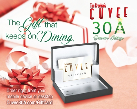 Cuvee 30A Gift Card • The Gift that keeps on Dining