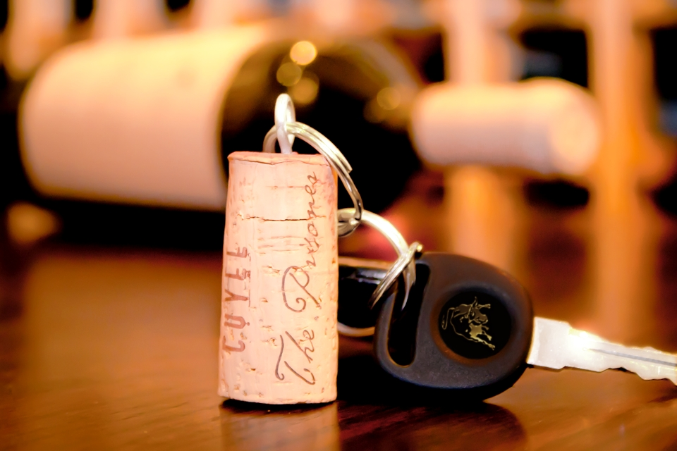 Tim Creehan's Cuvee 30A Wine Cork Key Ring