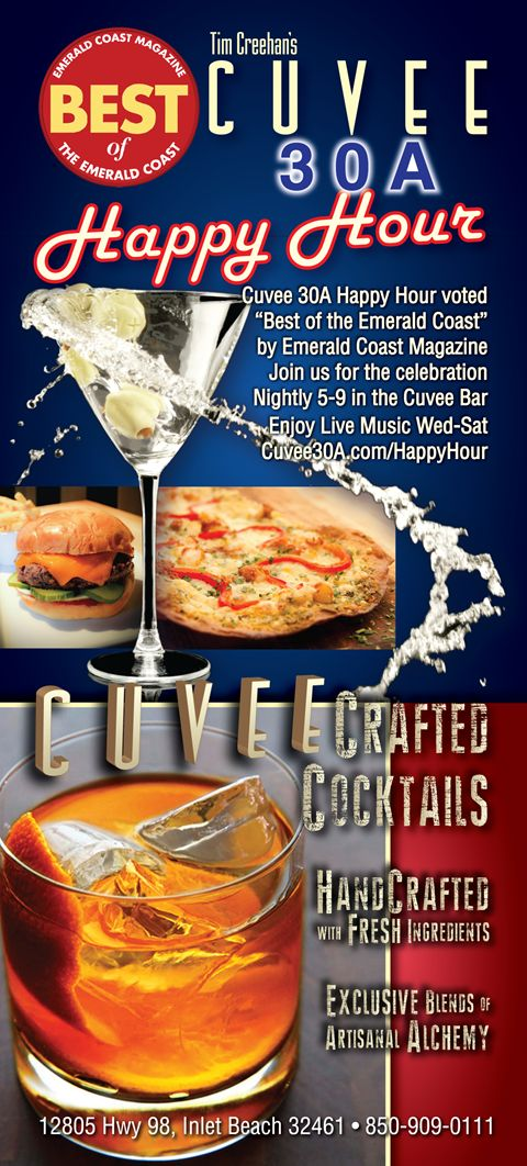 Cuvee 30A Happy Hour Voted Best of the Emerald Coast