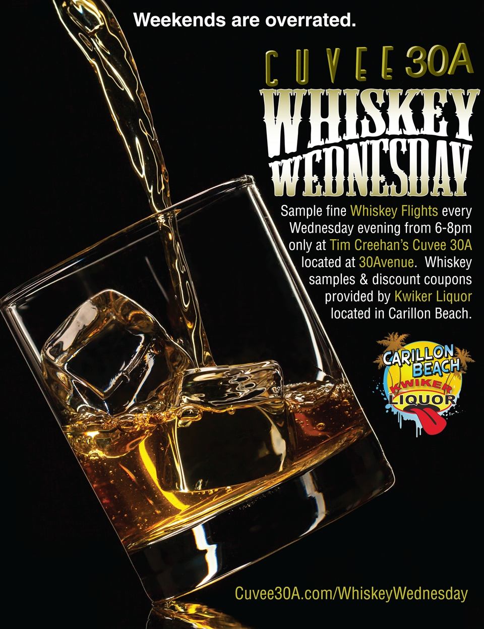 Whiskey Wednesday at Cuvee 30A in partnership with Kwiker Liquor at Carillon Beach