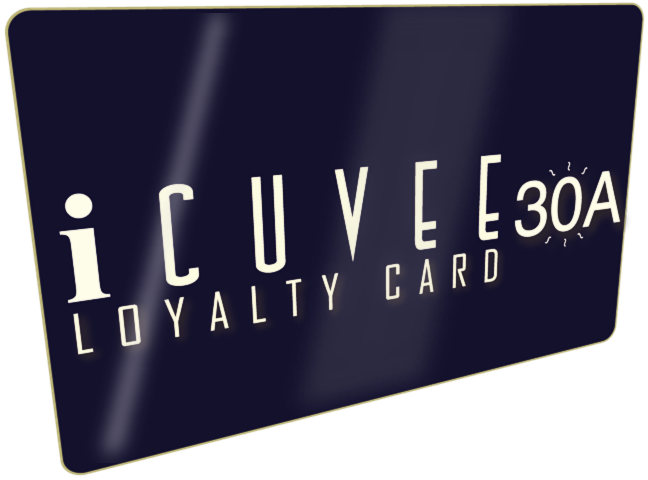 iCuvee 30A Loyalty Rewards Card exclusively available at Tim Creehan's Cuvee 30A at 30Avenue