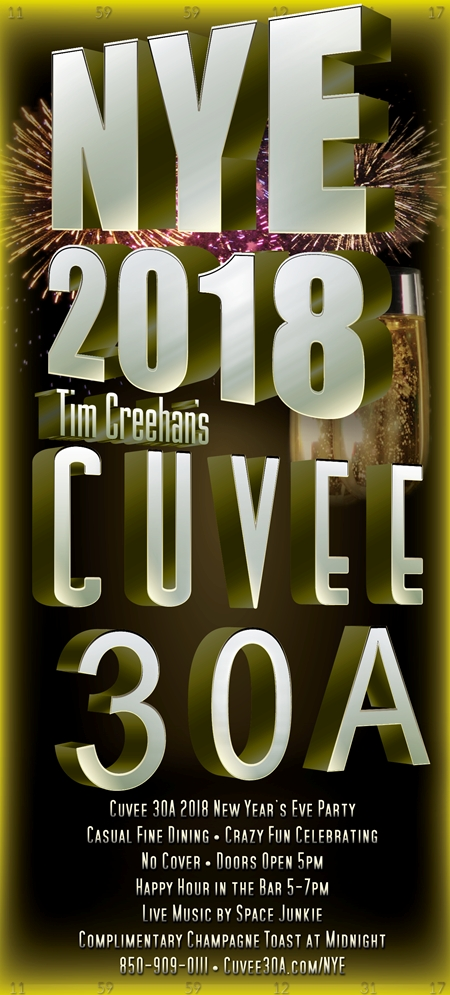Cuvee 30A 2018 New Year's Eve Party