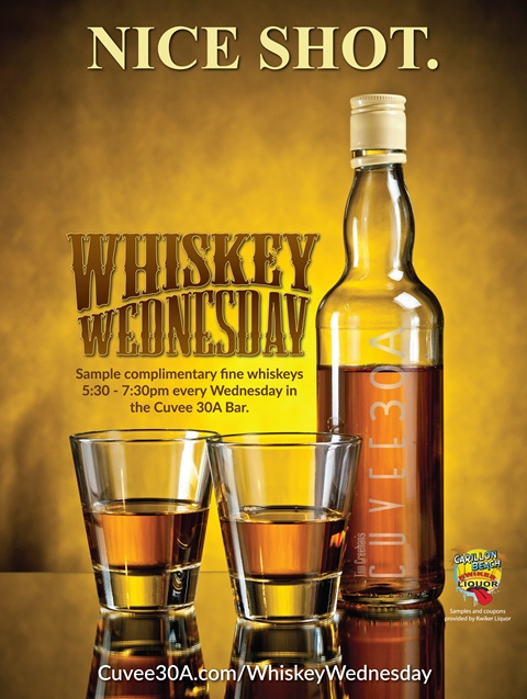 Whiskey Wednesday at Cuvee 30A