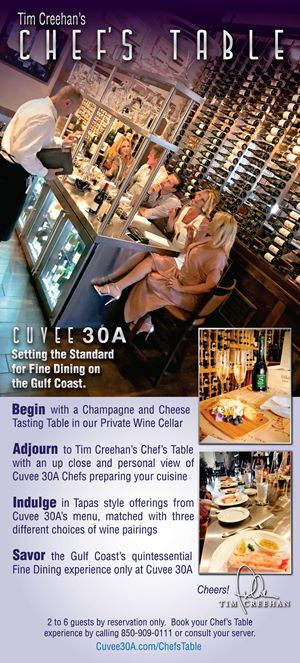 Tim Creehan's Chef's Table at Cuvee 30A