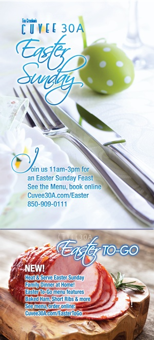 Easter Sunday at Cuvee 30A | Easter To-Go