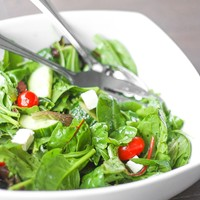 Mixed Greens Salad with Tomatoes, Cucumber, Feta Cheese and Balsamic Vinaigrette