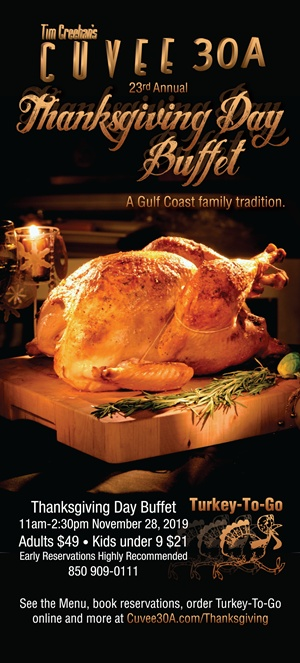 Cuvee 30A Thanksgiving Day Buffet | Thanksgiving Heat & Serve  Dinner Turkey-To-Go