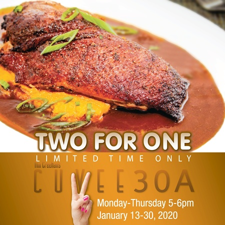 Two For One Early Dinner Event