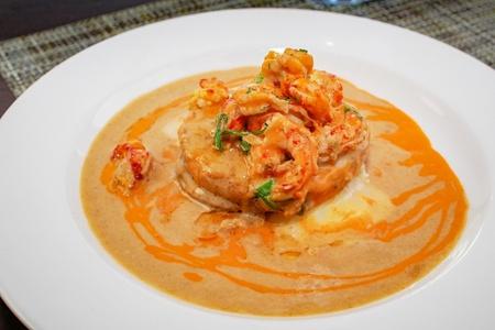 Fried Green Tomato Crawfish Tails Meuniere Sauce
