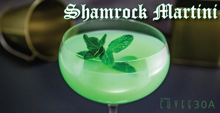 Cuvee 30A Shamrock Martini | St. Patrick's Day Special