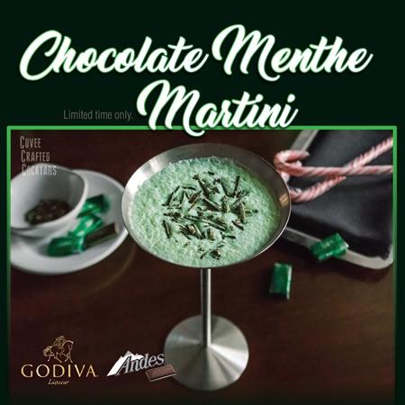 Chocolate Menthe Martini at Cuvee 30A