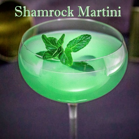 Shamrock Martini, Crafted Cocktails at Cuvee 30A