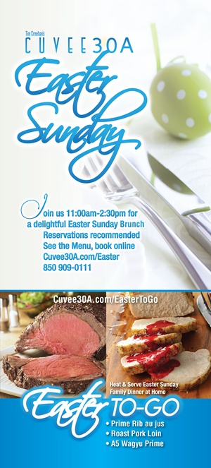Easter Sunday Brunch | Easter To-Go | Cuvee 30A