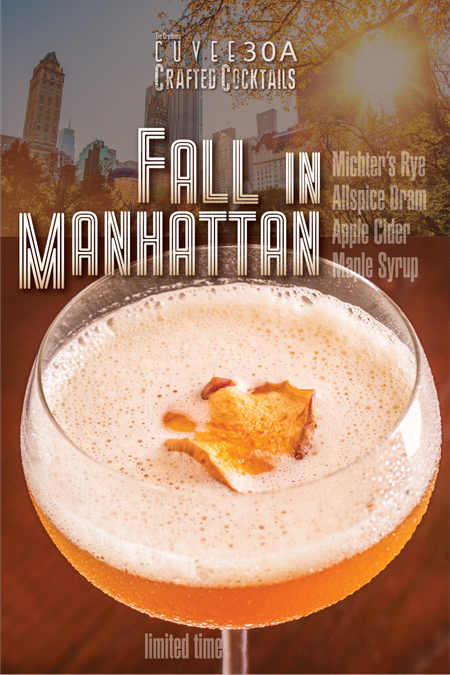 Fall in Manhattan ~ Autumn Special Crafted Cocktail @Cuvee30A