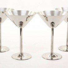 Cuvee 30A Stainless Steel Martini Glass – Set of 4