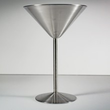 Cuvee 30A Stainless Steel Martini Glass